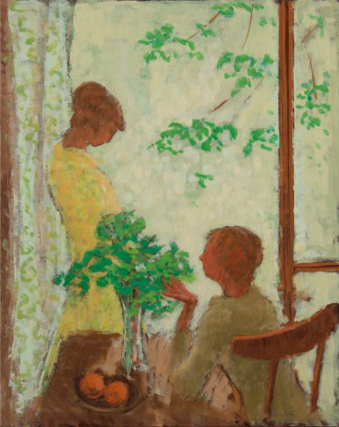 Two ladies in an interior.